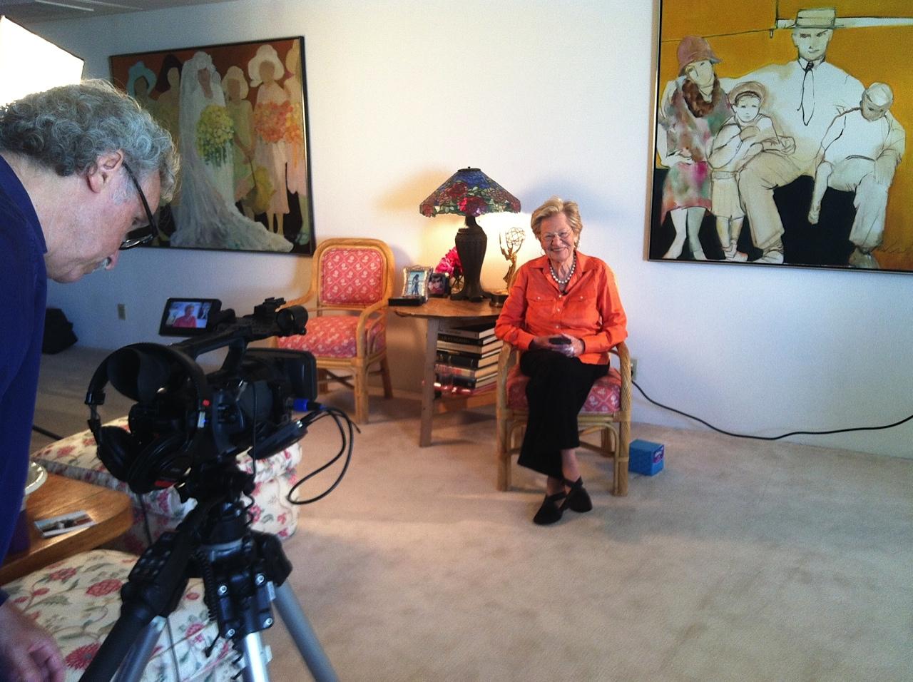 Videotaping Lila Garrett